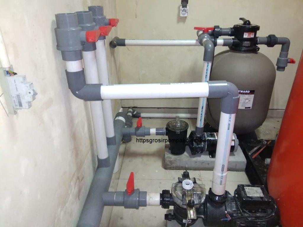 pemasangan pompa kolam
